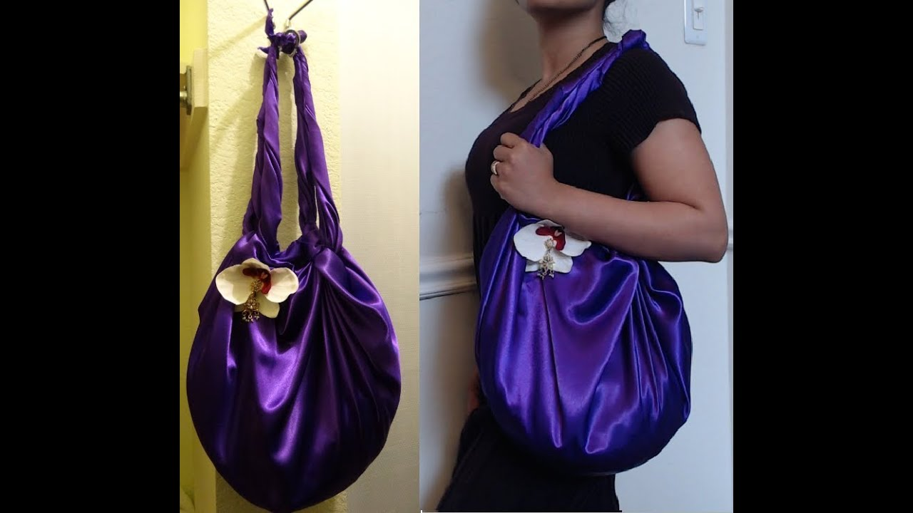 diy fashion no sew shoulder bag in 2 minutes just 1 yard of fabric youtube