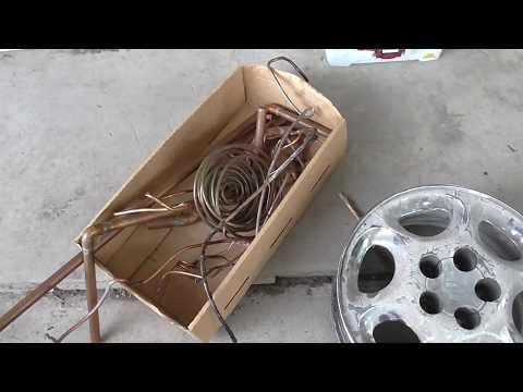 Recycling Metal At The Scrap Yard!! Aluminum Wheels, Copper, Tin, Electric Motors!! Scrapping