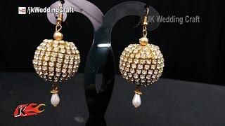 Download Video DIY Bridal Earrings | How to make wedding jewelry | JK Wedding Craft 117 MP3 3GP MP4