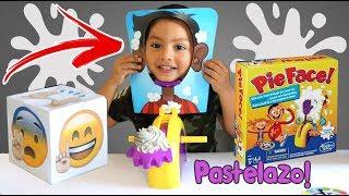 Reto del Pastelazo   Pie Face Showdown   Juegos Infantiles para niños