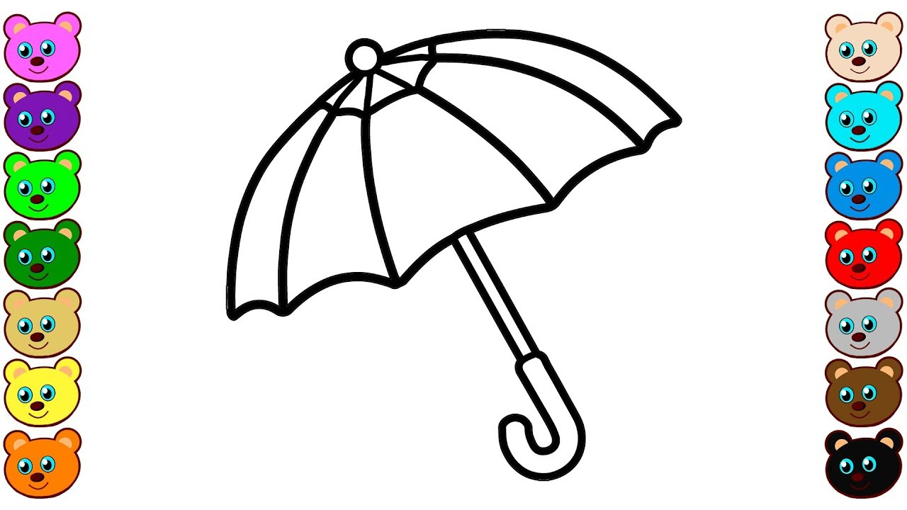 Coloring For Kids With Moms Umbrella