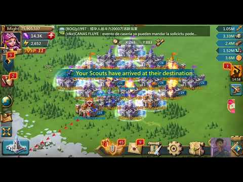#Lords Mobile Helping Guild Mate To Burn 0FH Hive