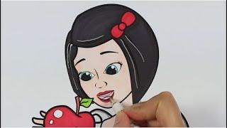 Белоснежка | - Раскраска - ручонки - How To Draw Snow White