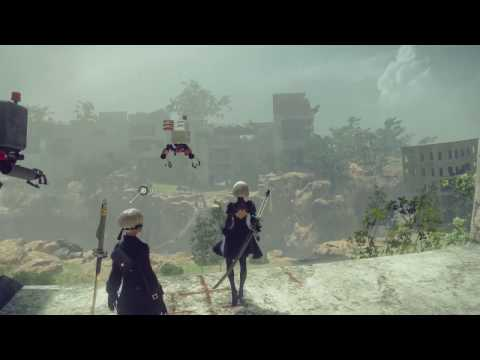 "NieR: Automata ""Exploring Earth's Distant Future"" Gameplay Video"