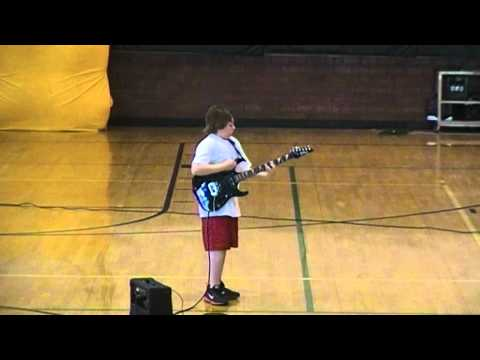 "Ozzy Osbourne's ""Crazy Train""- Guitar Cover at Talent Show"