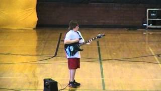 """Ozzy Osbourne's """"Crazy Train""""- Guitar Cover at Talent Show"""
