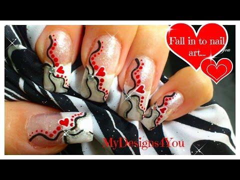 Easy Valentine´s Day Nail Art | Cute Heart Nails ♥ Дизайн Ногтей на День Влюбленных