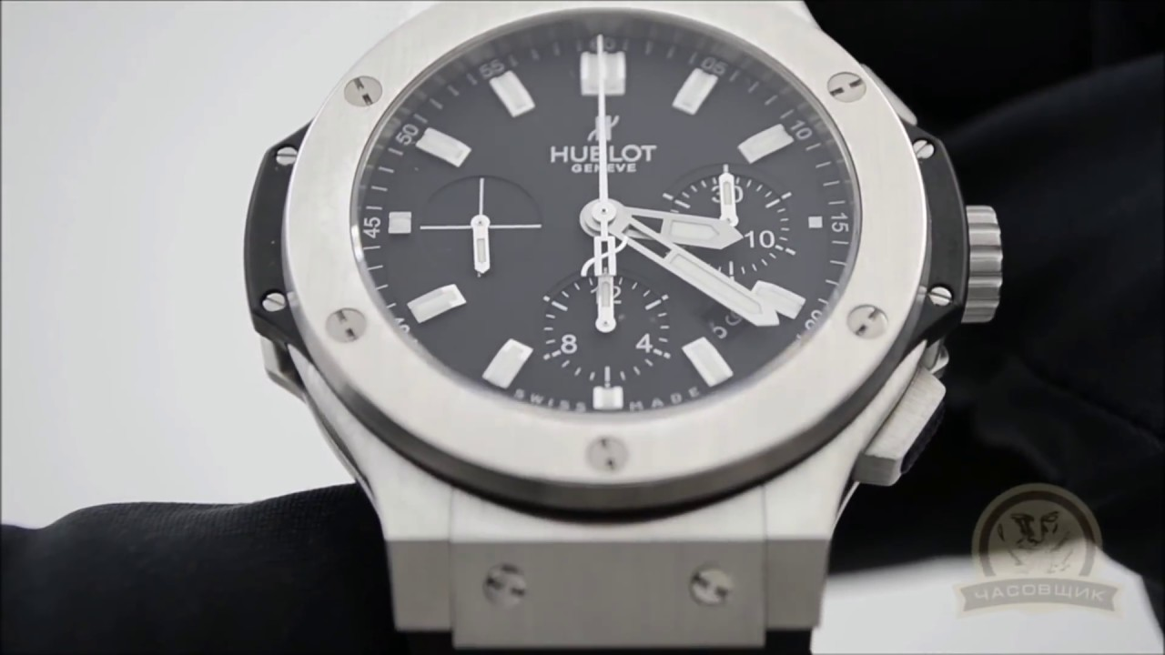 Швейцарские часы Hublot Big Bang Steel. - YouTube dfa0fda4dba28