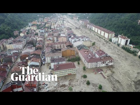 Download Turkey floods: Heavy rains sweep away cars and leave villages without power