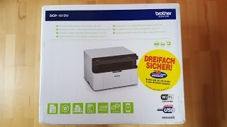 Brother DCP-1610W Multifunktionsdrucker, Drucker, Laserdrucker, Scanner, Printer - [Unboxing! 4K]