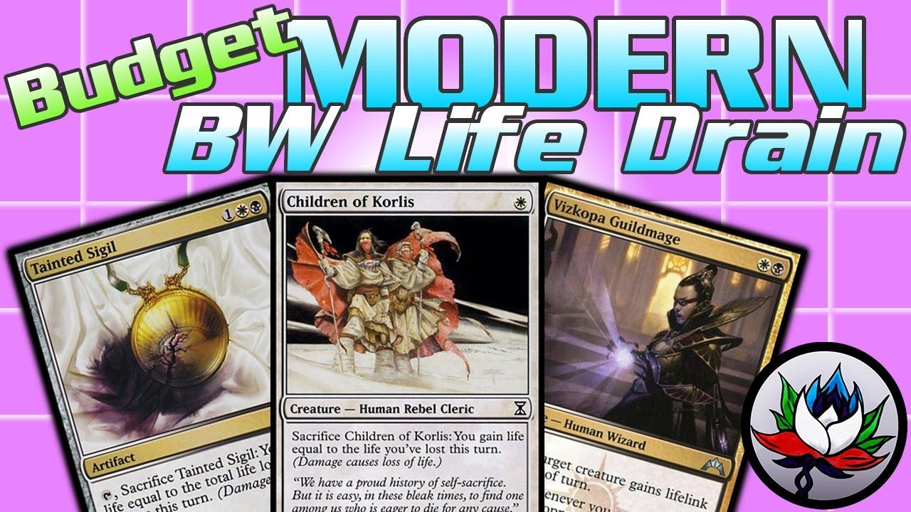 mtg w b loss budget combo modern deck tech for magic the gathering