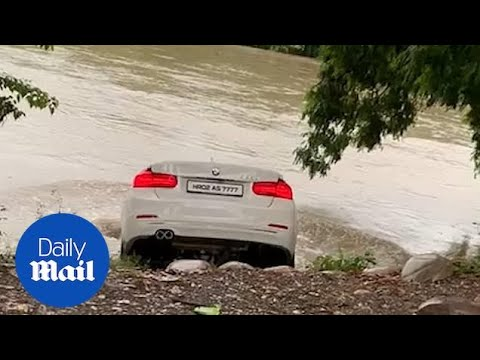 Qui West - Rich Young Man Tosses New Birthday BMW Gift Into River, Wanted A Jaguar!
