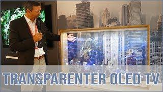 Panasonic - transparenter OLED TV als Möbel-Konzept
