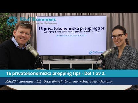 #112 - Sexton privatekonomiska preppingtips - Del 1 av 2