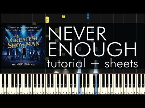 The Greatest Showman  Never Enough  Piano Tutorial + Sheets