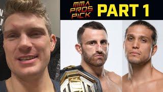 MMA Pros Pick Alexander Volkanovski vs Brian Ortega Part 1 UFC 260