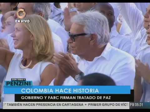 Así fue la firma del Acuerdo de Paz entre el Gobierno de Colombia y Farc