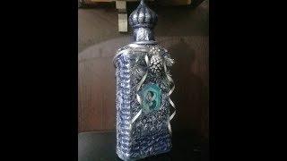 Наши поделки  Украшаем к Новому году подарочную бутылку