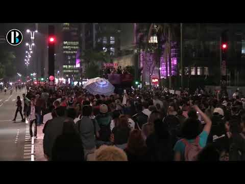 Brasileños protestan contra elección de Bolsonaro