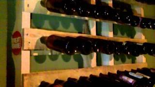 Pallet Beer Bottle Rack
