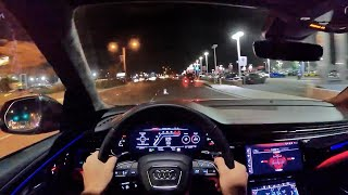 2021 Audi RSQ8 POV Night Drive (3D Audio)(ASMR)