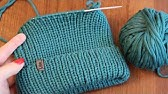 Вязание спицами. Мужская Шапка