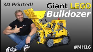 Giant LEGO Bulldozer - R/C Functions & Build details - Mantis Hacks E16