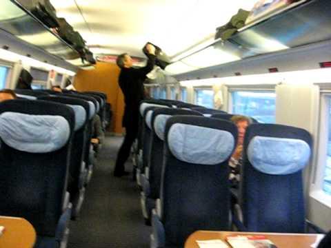 German ICE Train ICE 122 Interior - Frankfurt HBF - Amsterdam Centraal