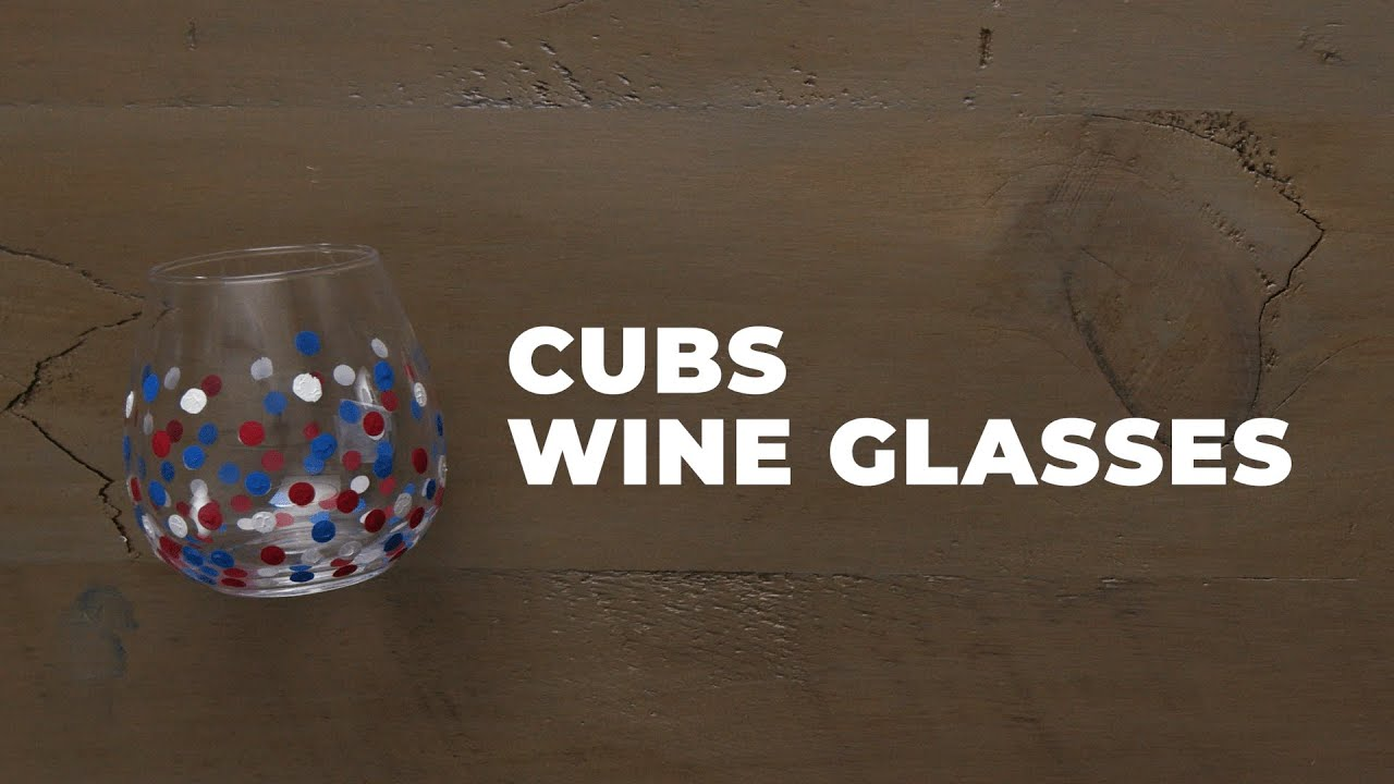 How To Make Polka-Dot Painted Cubs Wine Glasses | Make it Cubs