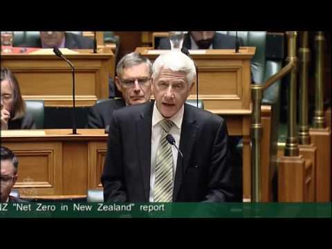"Member's Motion on Notice No. 1 – Debate on GLOBE-NZ ""Net Zero in New Zealand"" report - Me.."