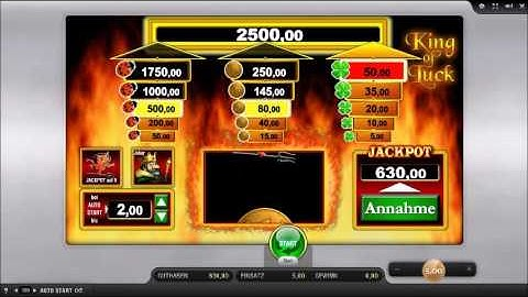 King of Luck online aif 5 € Einsatz