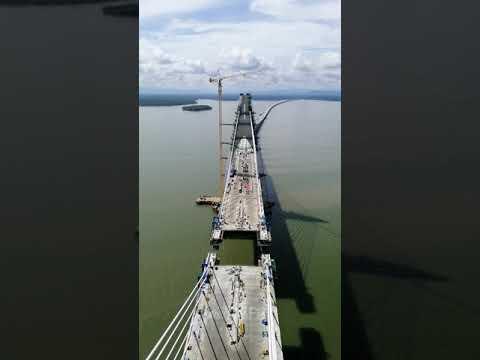 Brunei marine viaduct construction