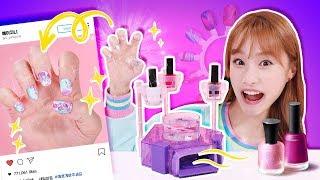 엉망진창 손톱 꾸미기ㅜㅜ 네일아트 장난감 놀이 DIY  - 지니
