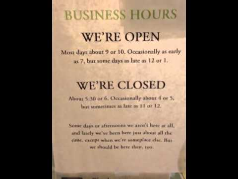 Business hours in Mountain View, AR