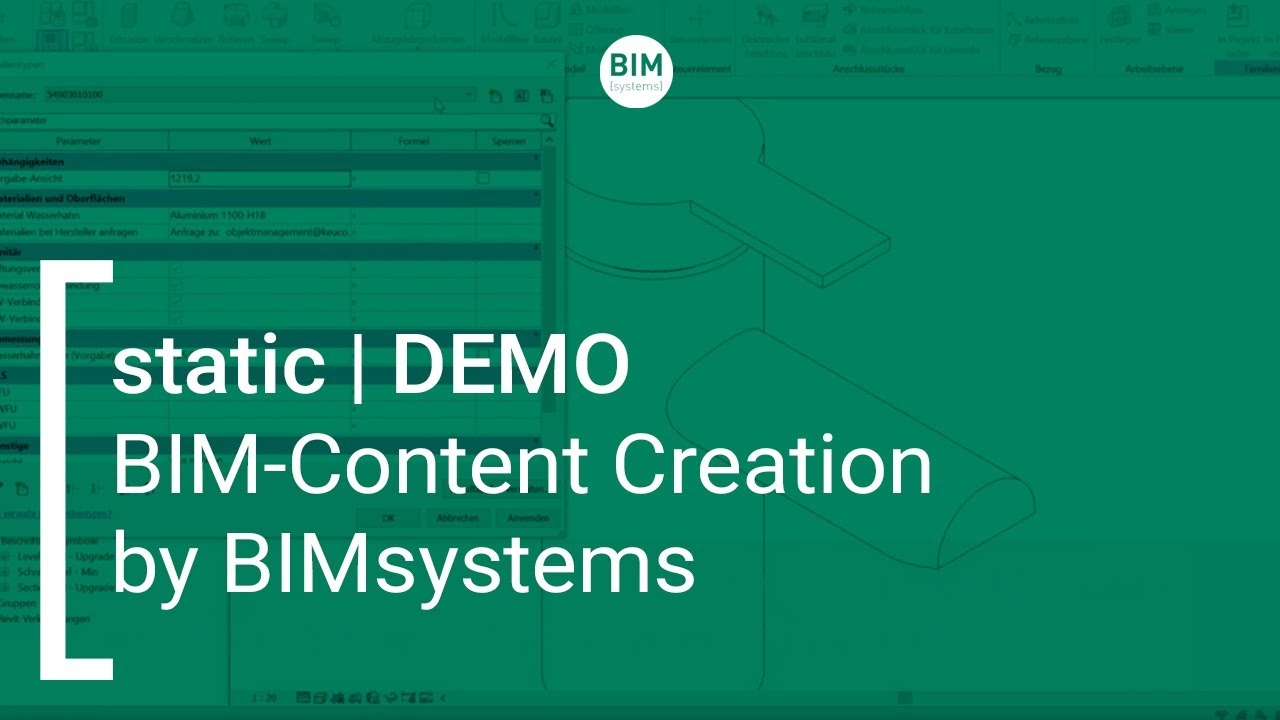static | BIM-Content Creation von BIMsystems | DEMO