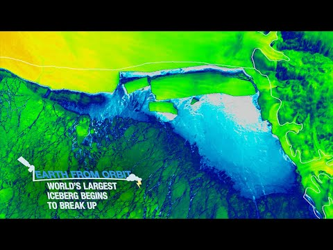 Earth from Orbit: World's Largest Iceberg Begins to Break Up