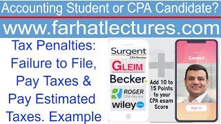 Tax Penalties:  Failure to File, Pay Taxes \u0026 Pay Estimated Taxes.
