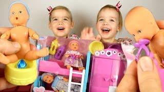 КОНКУРС! Нью Беби Борн Куклы Пупсики Играем в дочки-матери игрушки для девочек Doll New Born Baby