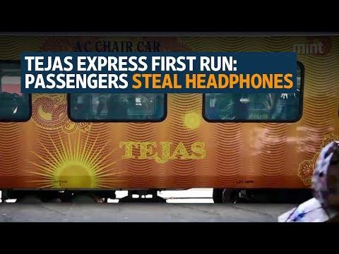 Tejas Express first run: Passengers steal headphones, damage screens