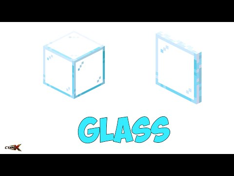Making GLASS CUBE & GLASS PANE | Minecraft 1-Minute Tutorial