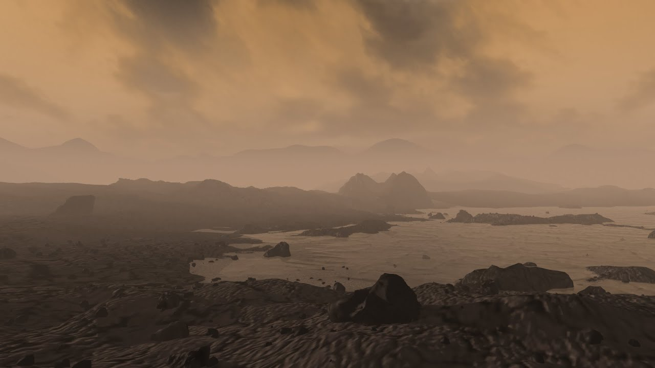 A Flight Over The Surface Of Saturn S Moon Titan Youtube