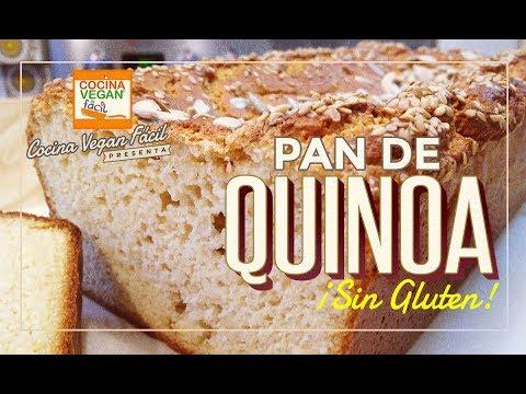 Pan de quinoa (sin gluten) - Cocina Vegan Fácil