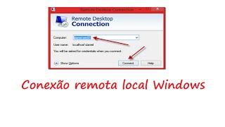 Como fazer uma conexão remota em outro computador sem instalar programas