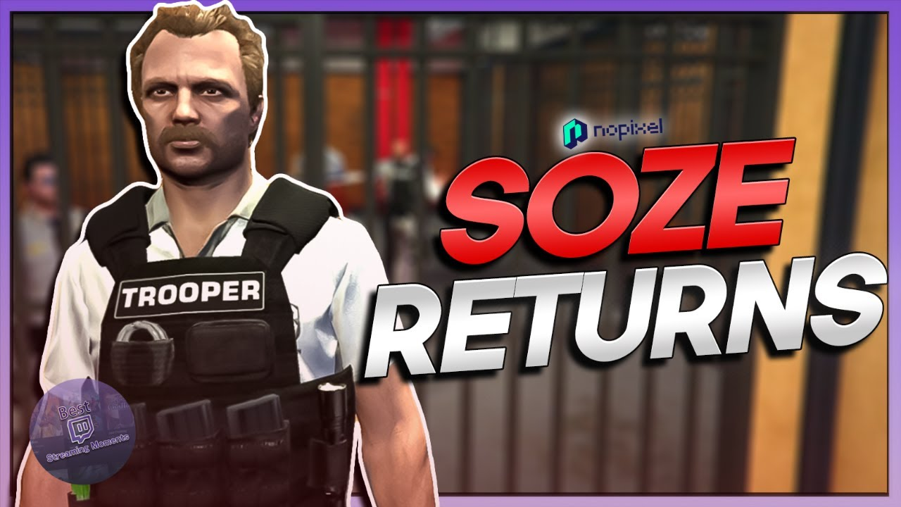 SOZE RETURNS FROM A BAD VACATION - BEST OF GTA RP #706 | NoPixel 3.0 Highlights