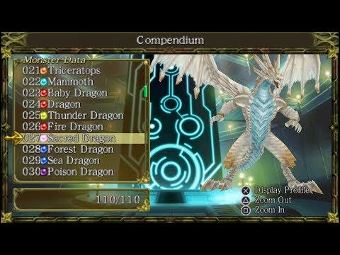 Monster Kingdom Jewel Summoner USA List All Monsters