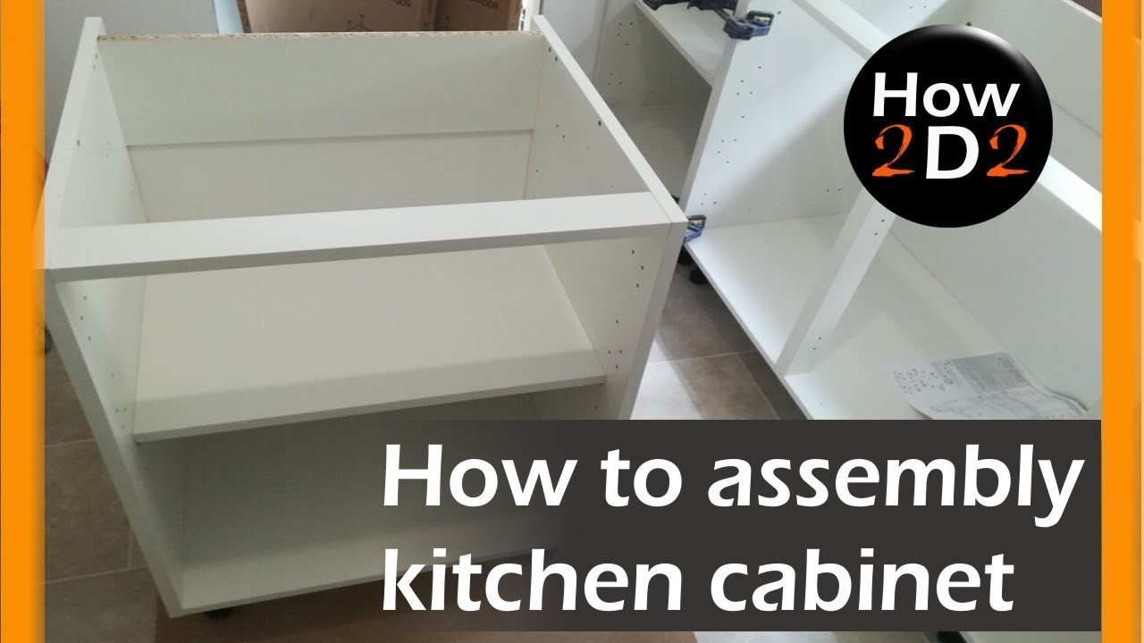 How To Assembly Kitchen Base Cabinet Flat Pack From B Q Youtube