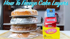 How To Freeze Cake Layers In Advance | CHELSWEETS