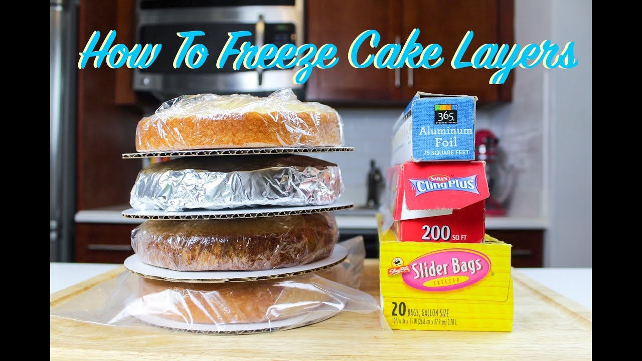 How To Freeze Cake Layers In Advance Chelsweets Youtube