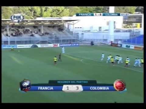 Francia vs. Colombia (1 - 3), Torneo Esperanzas de Toulon 2013, 3 de Junio