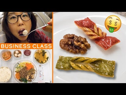Flying BUSINESS CLASS on Asiana Airlines 鈾� Overnight Flight from Singapore to South Korea